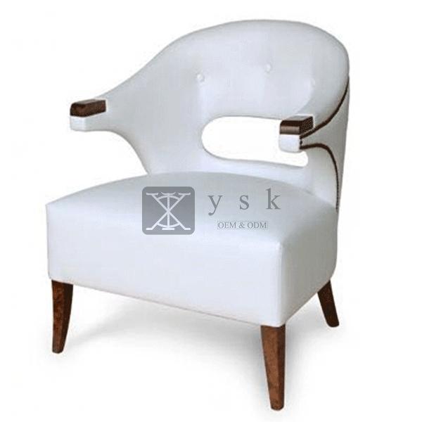 Ac 210 Designer Famous High Back White Leather Sofa